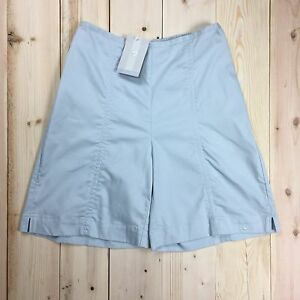 Nike Golf Shorts Women's 8 M High Waisted  Stretch Cotton Light Blue NWT Vtg 01