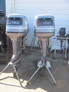 TWIN 150HP Yamaha outboard motor 150TXRP  Excellent compression motors