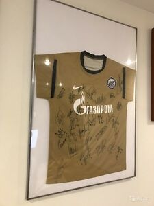 Original t-shirt FC ZENIT Saint-Petersburg SIGNED BY ALL TEAM Golden Season 2015