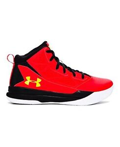 Under Armour 1274067-706 Boys Grade School UA Jet Mid Basketball Shoes 5 ANTHEM