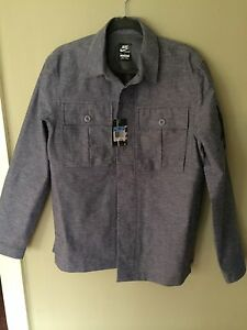 Nike Chambray Shirt Jacket Men's NSW SS12 Collection Sport Coat Clothing Size M