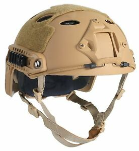 OneTigris PJ Type Tactical Fast Helmet for Airsoft Paintball Tan Free Shipping