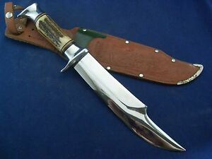 Vintage Original Edge Mark 469 African Hunter Style Bowie Knife with Sheath