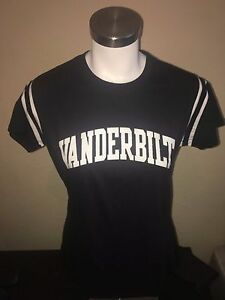 Vanderbilt Commodores Football Jersey Style T Shirt Womens Size Large L