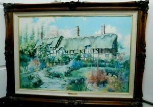 MARTY BELL PRINT CANVAS MISS HATHAWAYS GARDEN 3401800 LE COA SIGNED FRAMED 1992