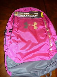 Under Armour Storm Hustle Backpack PinkGray NWT