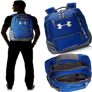 Under Armour Storm Hustle II Tough Backpack Water-Repellent Pockets Royal Blaze