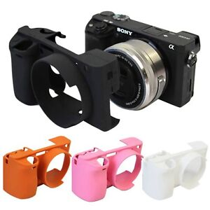 Soft Skin Case Silicone Rubber Body Cover Protective Bag For SONY A6300 Camera