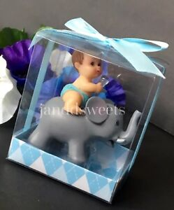 1PCS Baby Shower Favors Party Decoration Its A Baby Boy Blue Elephant Keepsake