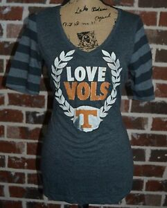 Tennessee Volunteers Vols Gray Orange Womens Football Shirt Size M