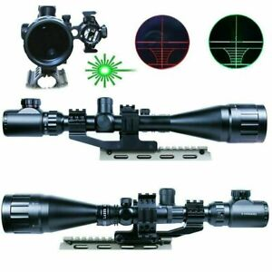 6 24X50 AOEG Hunting Rifle Scope Dual illuminated Reticle with Green Laser Sight