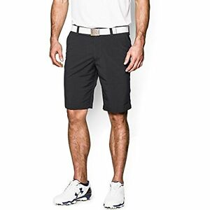 Under Armour Mens Match Play Shorts  Black True Gray Heather  38