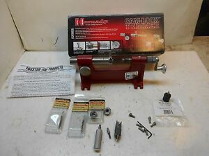 Hornady camlock case trimmer 7 pilots hollow pointer 2 shell holders reloading