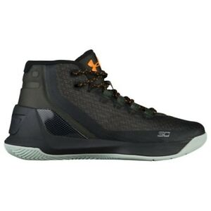 UNDER ARMOUR UA Kids Boys Curry 3 Basketball Shoes Sneakers Artillery Green
