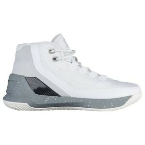 UNDER ARMOUR UA Kids Boys Curry 3 Basketball Shoes Sneakers Raw Sugar White