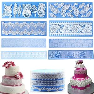 Silicone Lace Mold Fondant SugarCraft Mat Mould Cake Decorating Baking Tools