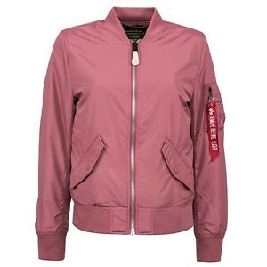 $130 Alpha Industries Women L2B Scout Flight Jacket pink tulip