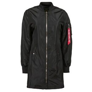 $150 Alpha Industries Women L2B Long Flight Jacket black