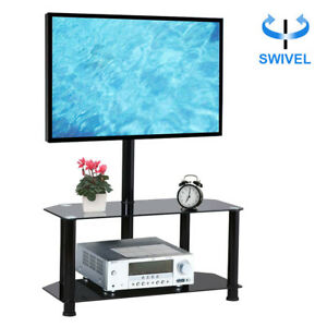 TV Stand with Swivel mount 2 shelf for 37-60 inch LED LCD TV