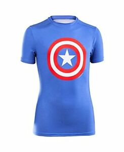 Under Armour 1244392 Boys Alter Ego Fitted Shirt YouthRoyal- Choose SZColor.