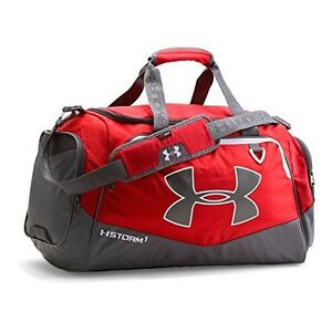 Under Armour Undeniable 2 Duffel Bag Gym Workout Sport Luggage Royal Large Red