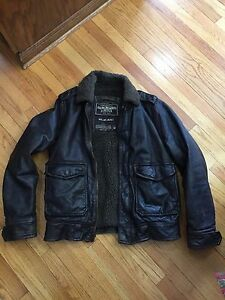 ABERCROMBIE AND FITCH ROLLINS jacket Leather Bomber M mountain slant Kilburn