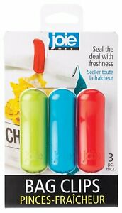 Joie 3 pc Bag Clip Set - Great for Sealing Freshness in Snack Chip Bread Cereal