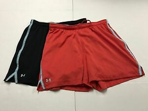 Lot of 2 UA Under Armour HeatGear Athletic Yoga Running Active Exercise Womens L