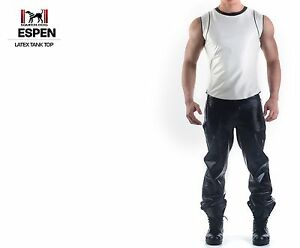 New Sexy Muscle Latex Shirt Tank Top Wide Shoulders SQUEEZE.DOG  Espen