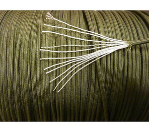 NEW Olive Drab 550 Para-cord Mil Spec Type III 7 strand parachute cord 10-250 ft