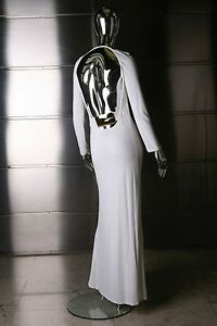 GUCCI TOM FORD ICONIC WHITE JERSEY DRESS SZ 38 FALL 1996