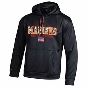 Under Armour United States Marines-Armour Fleece Storm Hoodie-Pullover