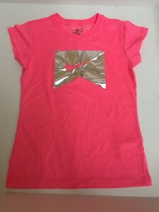 Nike Dry Fit Girls ~ Kids t shirt size M ~ Pink & Silver