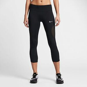 NIKE POWER COOL WOMEN'S RUNNING fitness CROPS Tights Shorts Capri 855144-010