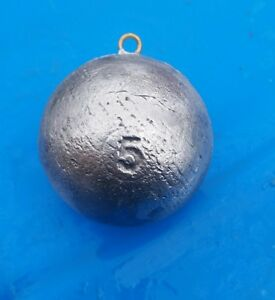 5lb downrigger balls cannon ball sinkers lead fishing weights