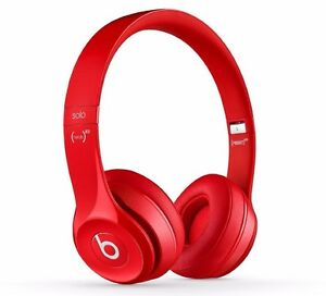 Beats Dr Dre SOLO2 WIRED ON-EAR HEADPHONE MH8Y2AMA Fine Tune Sounds w Mic RED