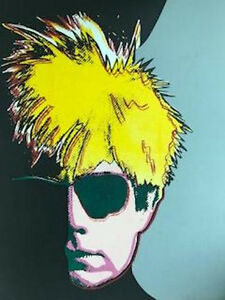 ANDY WARHOL by STEVE KAUFMAN Uniquie Hand Painted on CANVAS Signed