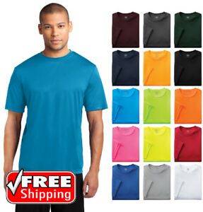 Mens Dri Fit Workout Performance Moisture Wicking Gym Sport T Shirt Dry T PC380 $8.47