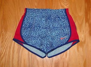 Nike Dri Fit Running Shorts NWOT Size M Youth Blue Magenta Pink Tempo Girl's