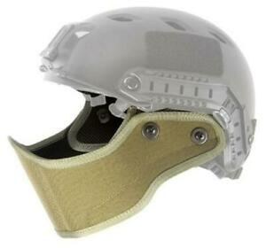 Lancer Tactical Specops Military Style Helmet Face Mask Tan New For Airsoft