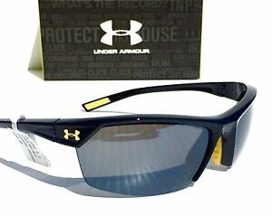 NEW* Under Armour ZONE 2.0 BLACK Yellow w Grey Lens UA Baseball Golf Sunglass
