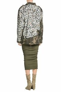 FAITH CONNEXION CAMOUFLAGE FIELD JACKET WITH GRAFFITI PRINT SMALL
