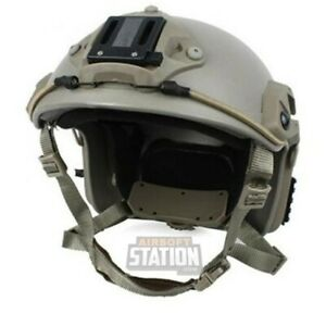 Lancer Tactical Maritime Specops Military Style Helmet W Nvg Mount Tan