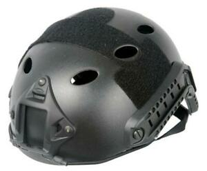 Lancer Tactical Specops Military Style Helmet Pj Type With Rails And Velcro New