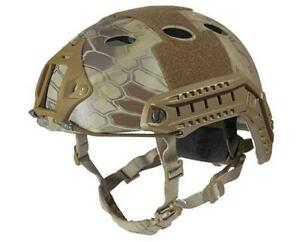 Lancer Tactical Specops Military Style Helmet Pj Type With Rails And Velcro