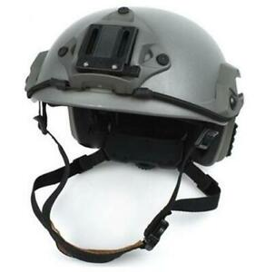Lancer Tactical Maritime Specops Military Style Helmt W/ NVG Mount Green Airsoft