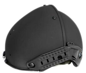 Lancer Tactical Airsoft CP AF Helmet Ventilation With Rails CA-761B Black