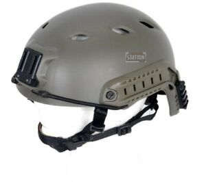 Lancer Tactical Specops Military Style Nvg Helmet With Rails OD Green