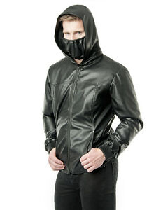 Nasty Pig Men's Ludlow Vegan Leather Hoodie Zip Up Jacket Retail $198