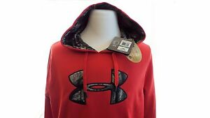 Under Armour Men's UA Storm Caliber Water-Resistant Camo Hoodie Red Size Large